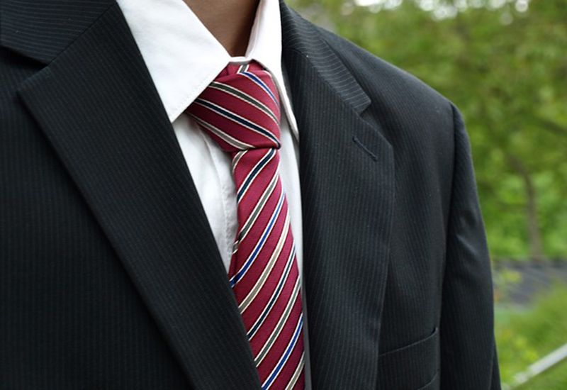 Once you are feeling more confident, get bold with striped neckties and work with more than two shades of colour..