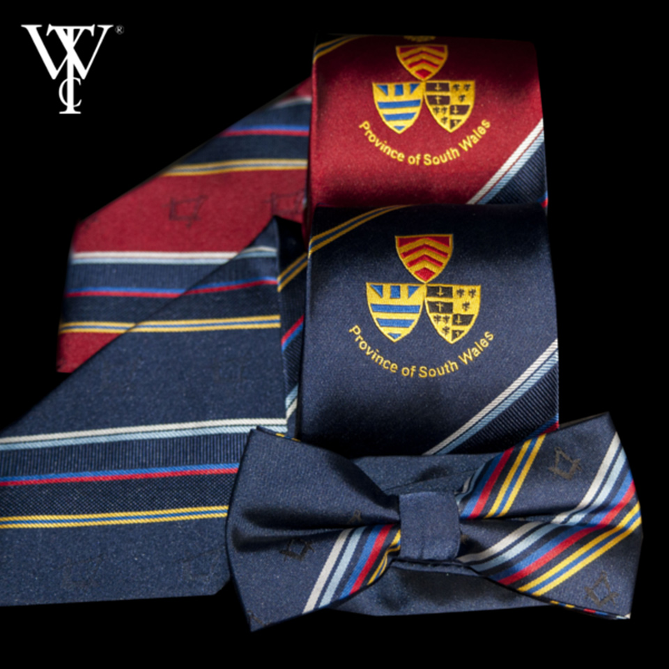 Specialists in Bespoke Custom-Made Ties for Masonic Lodges