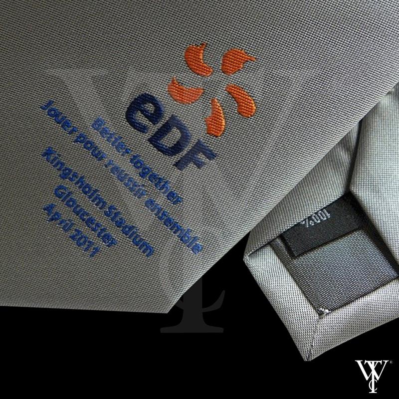 Portfolio of Custom-Made Ties in Cornwall by Winsor Ties - EDF