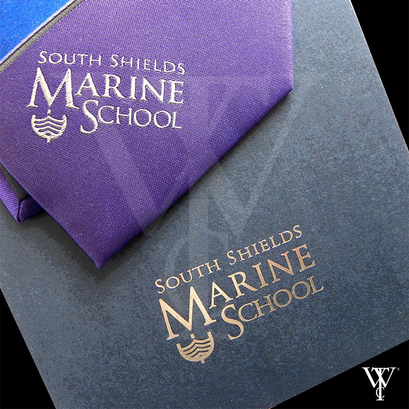 Portfolio of Custom-Made Ties in Cornwall by Winsor Ties - South Shields Marine School